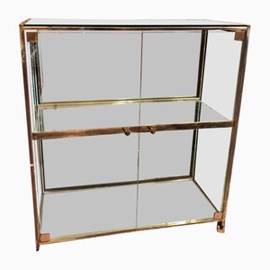 Mirrored Display Cabinet, 1980s