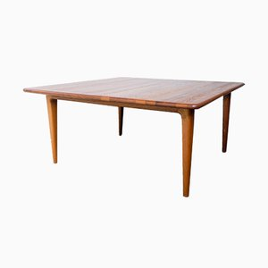Square Solid Teak Coffee Table from Mikael Laursen, 1960s