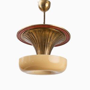Vintage Deckenlampe von Haral Notini für Böhlmarks, 1930er