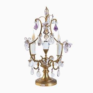 Girandoles Style Louis XV en Bronze et Cristal, 19ème Siècle, Set de 2
