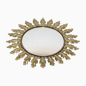 Brass Sunburst Mirror, 1950s