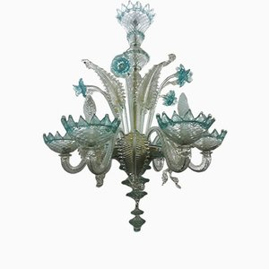 Light Blue Chandelier, 1940s