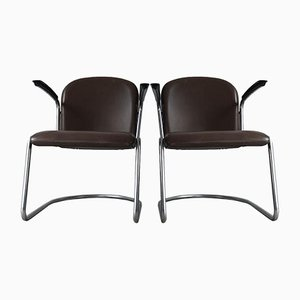 Mid-Century 413 Lounge Chairs by W.H. Gispen for Gispen, 1950s, Set of 2