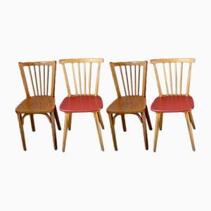 Vintage Esszimmerstühle von Baumann, 1950er, 4er Set