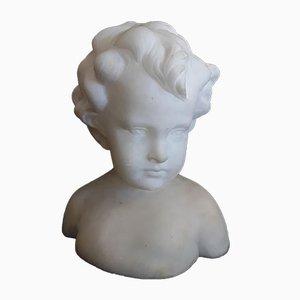 Busto de niño antiguo de alabastro de Kochendörfer Munich