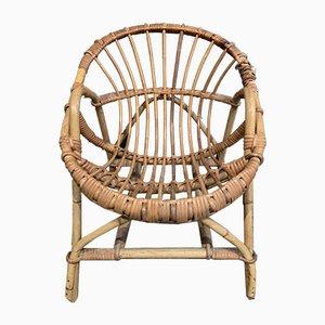Mid-Century Children's Rattan Armchair, 1960s