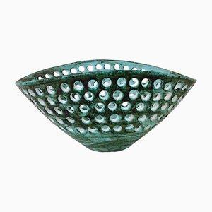 Fuente francesa grande de cerámica de Marcel Guillot, años 50