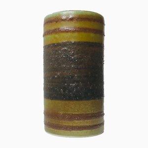 Jarrón vintage de cerámica de rayas de Nils Aa. Sivertsen para Stavangerflint, años 60