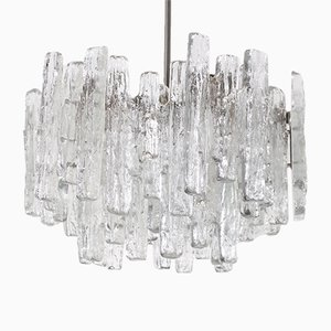 Brutalist Molded Crystal Chandelier from Kalmar Franken KG, 1970s