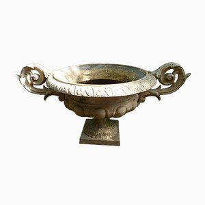 Art Deco French Cast Iron Cachepot Planter, 1920s
