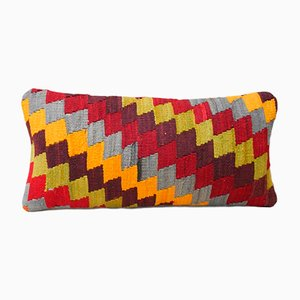 Multi-Color Diamond Pattern Kilim Cushion Cover from Vintage Pillow Store Contemporary, 2010s