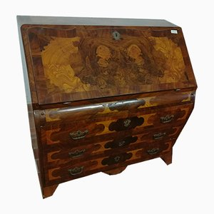 Antique Burl Walnut Secretaire