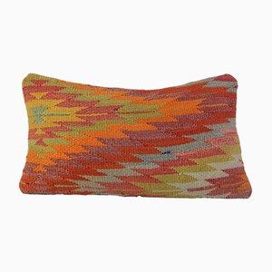 Federa Kilim bohémien intrecciata a mano di Vintage Pillow Store Contemporary