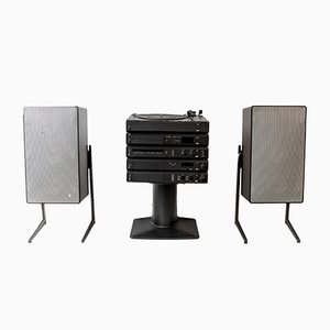 Impianto stereo Atelier 3 HiFi & L715 di Dieter Rams per Braun, 1984