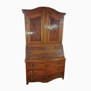 Antique Blonde Walnut Trumeau