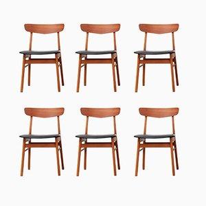 Chaises de Salle à Manger de Farstrup, Danemark, 1960s, Set de 6
