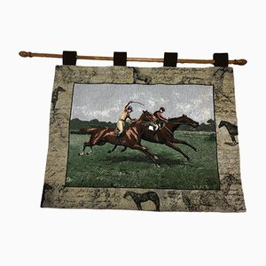Vintage Scottish Horse Racing Wall Tapestry from OMGC