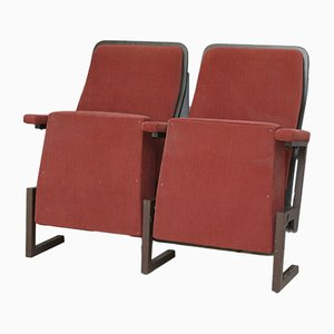 Vintage Twin Cinema Seat Bench