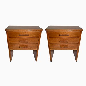 Italian Art Deco Walnut Nightstands, 1938, Set of 2
