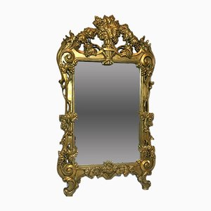 Large Rococo Style Gilt Gesso Pier Wall Mirror, 1970s