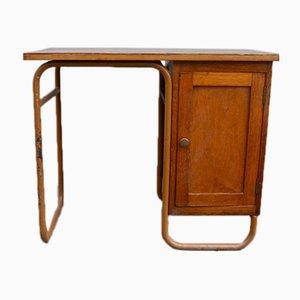 Vintage Schreibtisch mit Röhrengestell von Jacques Hitier