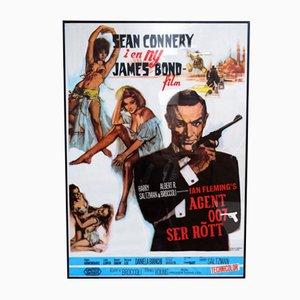 Poster del film James Bond from Russia With Love, Svezia, anni '60