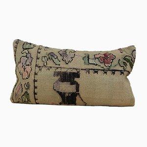 Bestickter französischer Wollkissenbezug von Vintage Pillow Store Contemporary