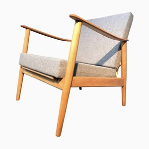 Mid-Century Danish Beech Easy Chair