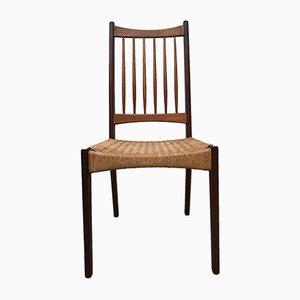 Dänischer Mid-Century Stuhl mit geflochtenem Sitz & Gestell aus Teak