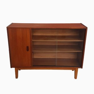 Mid-Century Teak & Glass Display Cabinet