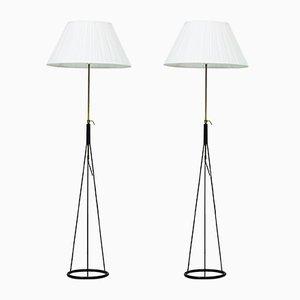 Stehlampen von Eje Ahlgren für Luco, 1950er, 2er Set