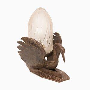 Lámpara de mesa Art Déco de bronce, años 30