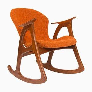Rocking Chair Mid-Century par Aage Christiansen pour Erhardsen & Andersen