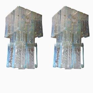 Lampadari Laguna Mid-Century iridescenti di Renato Toso per Fratelli Toso, set di 2