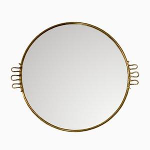 Mid-Century Spiegel mit goldenem Rahmen