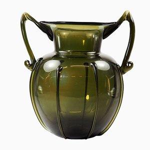 Vase Art Déco en Verre par Vittorio Zecchin pour Cappellin Venini, 1920s