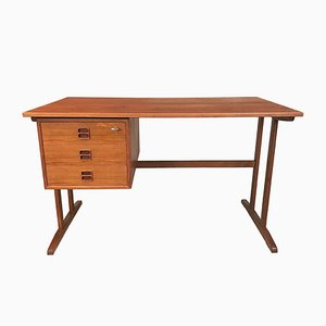 Vintage Freestanding Teak Desk by Arne Vodder, 1960s