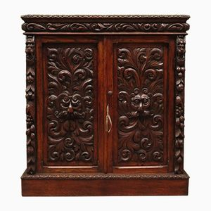Antique Carved Oak Cabinet