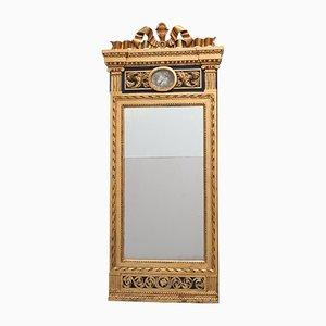 Antiker gustavianischer Spiegel mit vergoldetem Holzrahmen