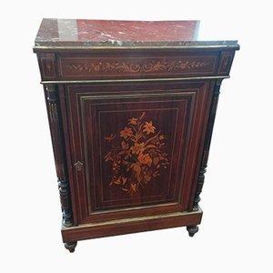 Antiker Schrank mit 1 Tür & Intarsien