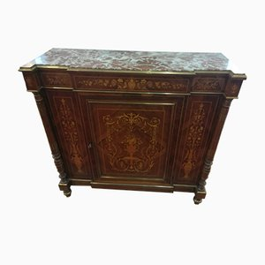 Antique Inlaid 1 Door Sideboard