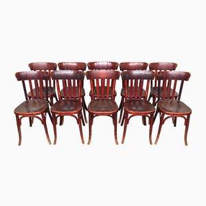 Chaises de Bistrot Vintage de Fischel, 1920s, Set de 10