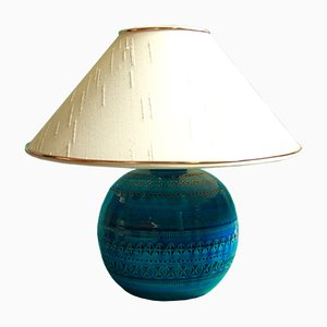 Italian Rimini Blu Table Lamp by Aldo Londi for Bitossi, 1950s