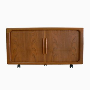 Teak Sideboard with Sliding Doors from Dyrlund, 1980s
