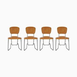 Chaises Pliantes Aluflex par Armin Wirth, 1950s, Set de 4