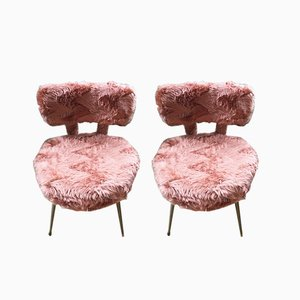 Vintage Pink Chairs from Pelfran, Set of 2
