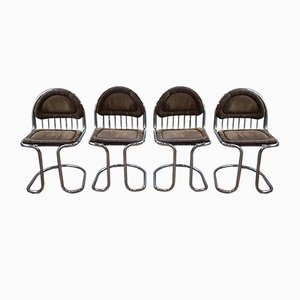 Vintage Chairs by Gastone Rinaldi, Set of 4