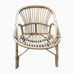 Vintage Kinderstuhl aus Rattan