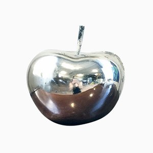Large Vintage Decorative Chrome Apple