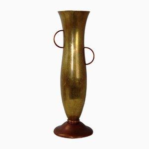 Vase aus Kupfer & Messing von Ariosa, 1930er